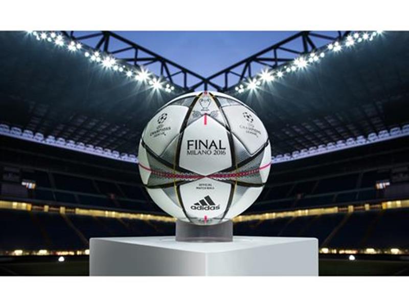 adidas  prezintă mingea Finale Milano cu care se va juca în fazele eliminatorii și în finala UEFA Champions League