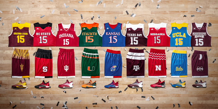 adidas Unveils School Pride Basketball Uniforms For 2016 NCAA Postseason