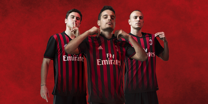 adidas e AC Milan Presentano  La Maglia Rossonera della Stagione 2016/17