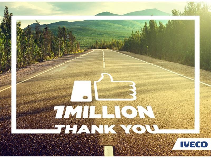 IVECO celebrates 1 million Facebook fans