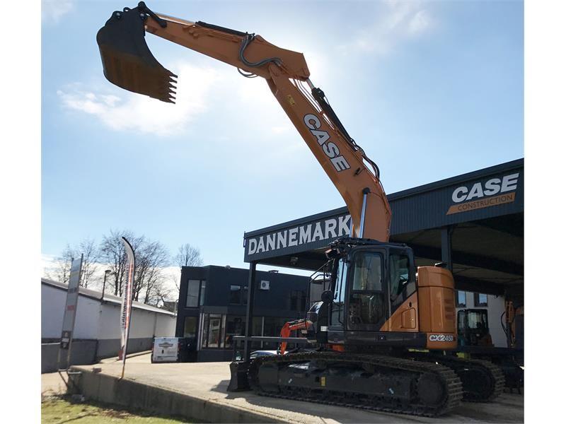 First CASE CX245D SR excavator delivered is at work on Belgium jobsite