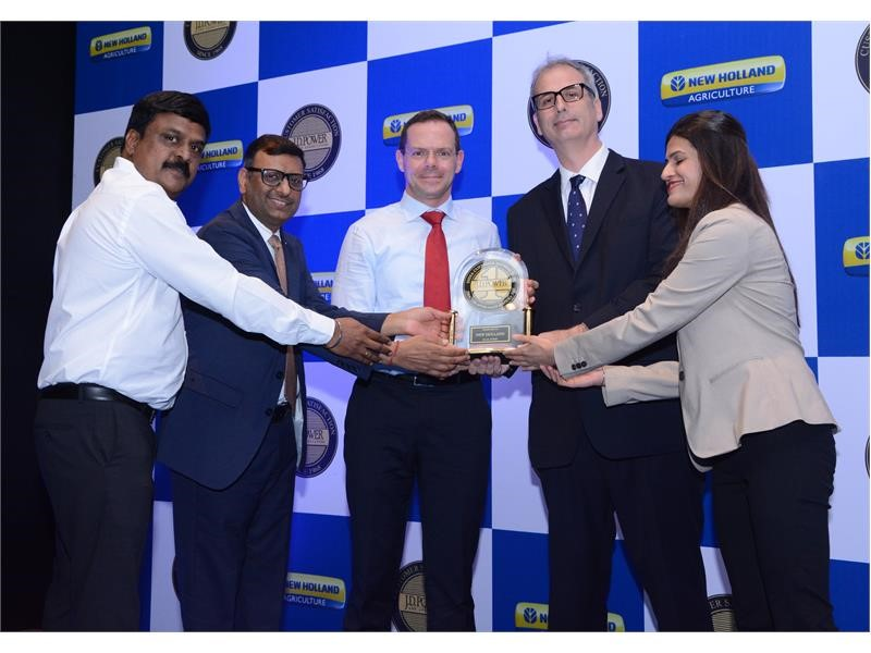 New Holland Agriculture awarded Highest Rating in India Tractor Product Performance and Service Satisfaction Indices