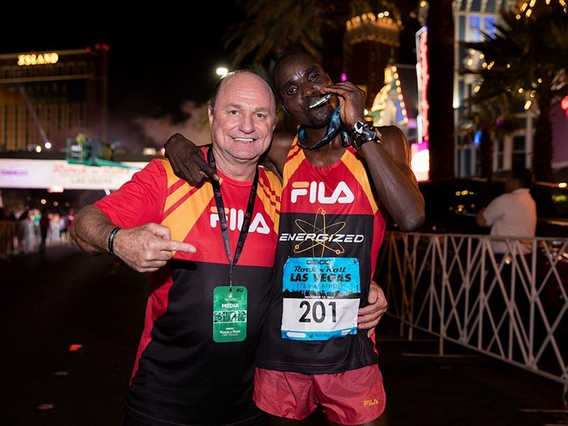 FILA Sponsored Runner William Kibor Wins Las Vegas Half Marathon With Record-Setting Race Time