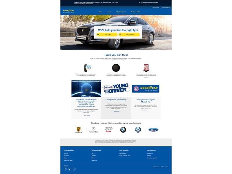 Goodyear launches next generation web platform allowing consumers to make better-informed purchase decisions