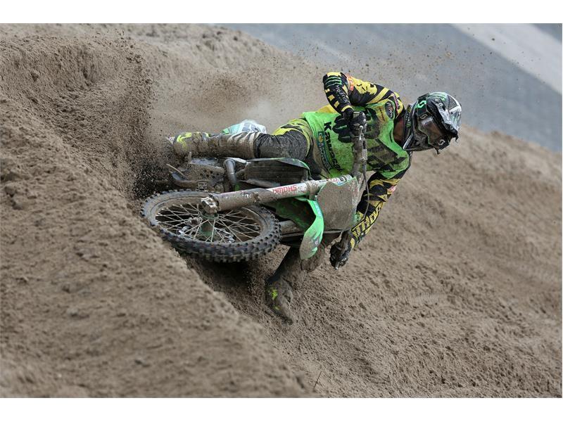 Desalle and Kawasaki win MXGP in tough terrain