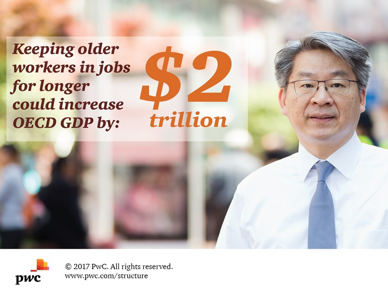 Extending working lives could increase OECD GDP by $2 trillion, says PwC