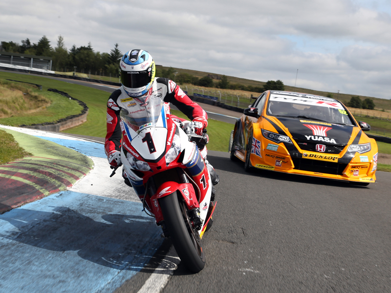 Car v Bike: Which Is Fastest? Touring Car and Isle of Man Winners Go Head to Head