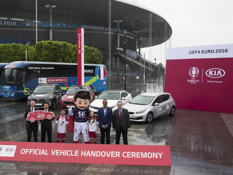 Kia reveals vehicle line-up for UEFA EURO 2016™
