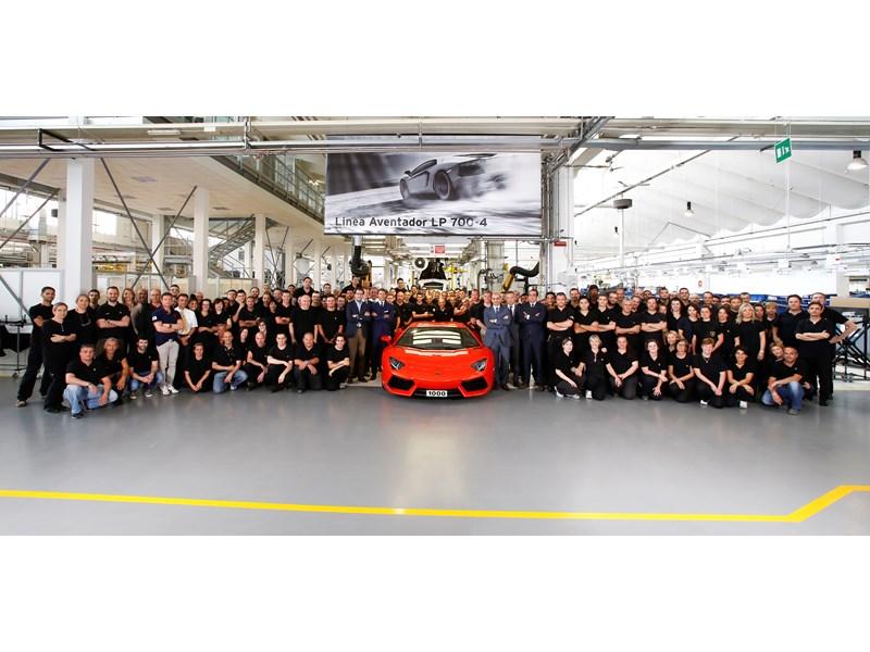A milestone for Automobili Lamborghini: 1,000 Aventadors produced