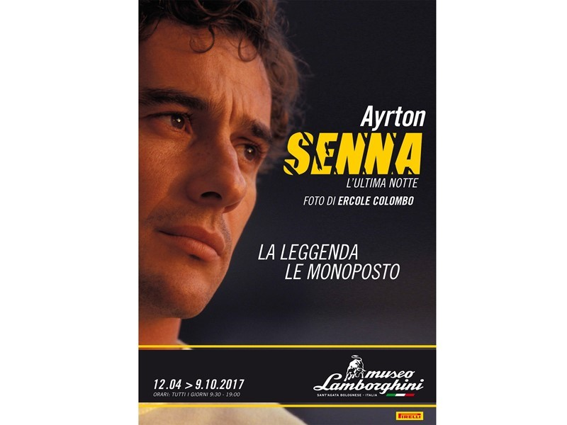 Ayrton Senna: the man and the legend. At the Lamborghini Museum at Sant'Agata Bolognese, from 12 April
