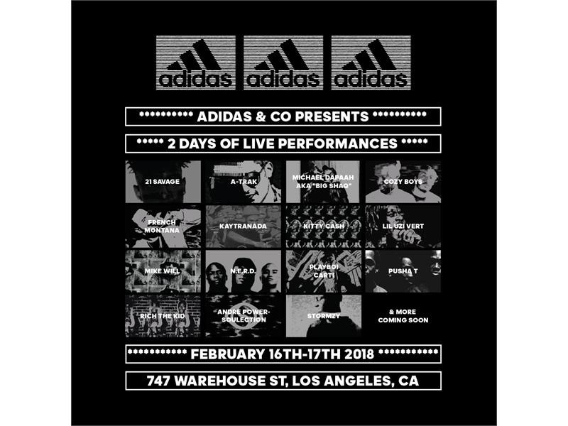 ADIDAS REVEALS NEXT PHASE OF ALL-STAR MUSICAL GUESTS FOR  747 WAREHOUSE ST.