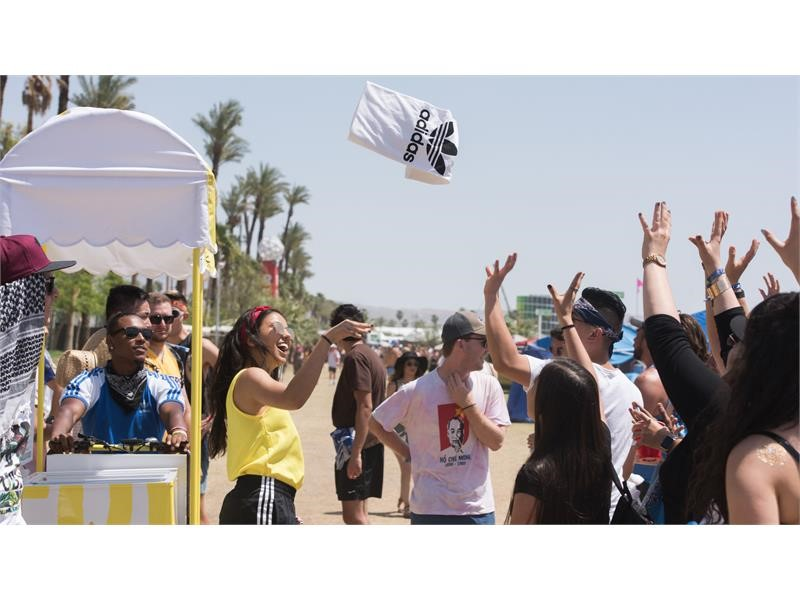 adidas Partners with Coachella Music Festival Providing Attendees with Elevated Experiences, Surprise and Delight Moment