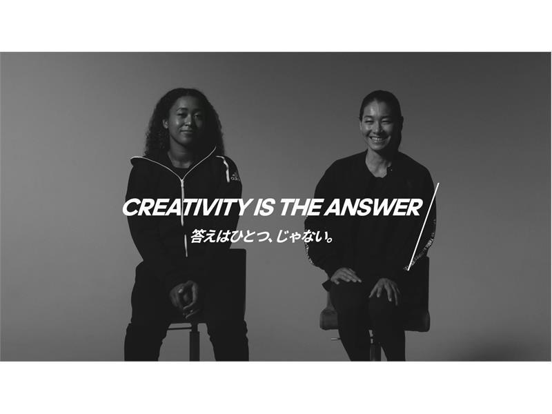 「CREATIVITY IS THE ANSWER」大坂なおみ選手と伊達公子さん が登場する第1弾フィルムが2018年10月19日より公開