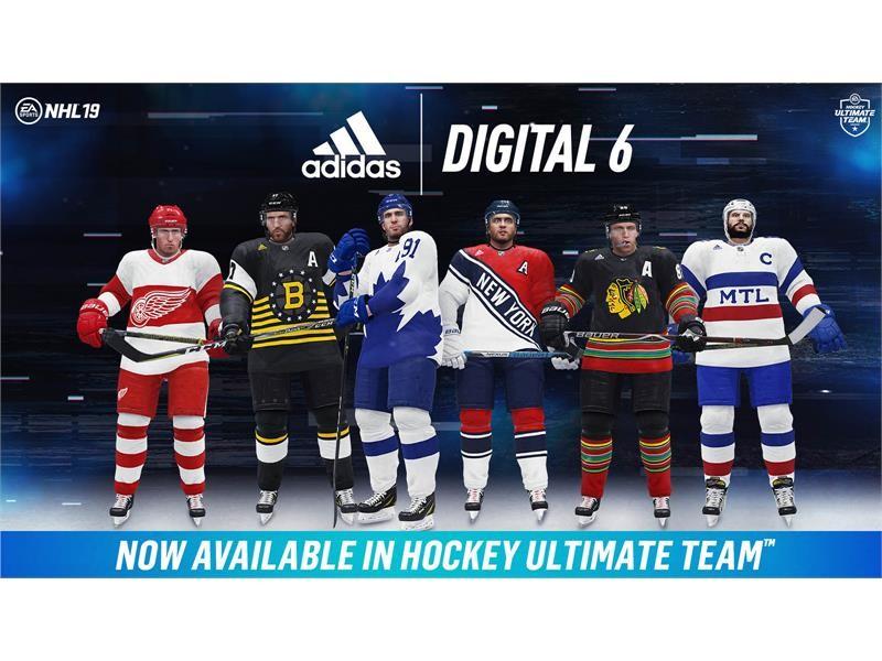 adidas & EA SPORTS™ Unveil All-New Digital 6 Jerseys for Hockey's Original Six Teams in NHL® 19