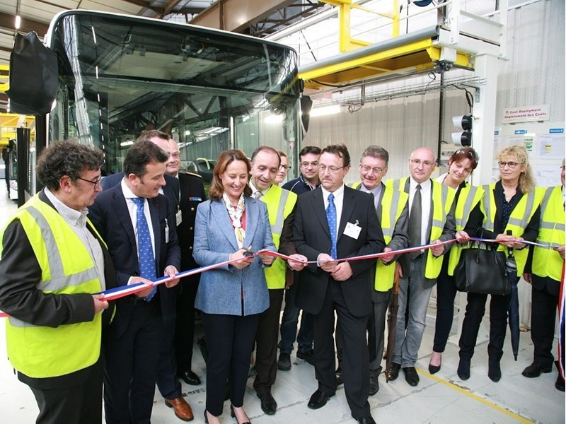 French Minister of Ecology, Sustainable Development and Energy visits Heuliez Bus plant