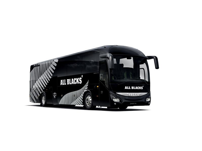 Iveco Bus Champions will transport the All Blacks across Europe for their Fall European Tour