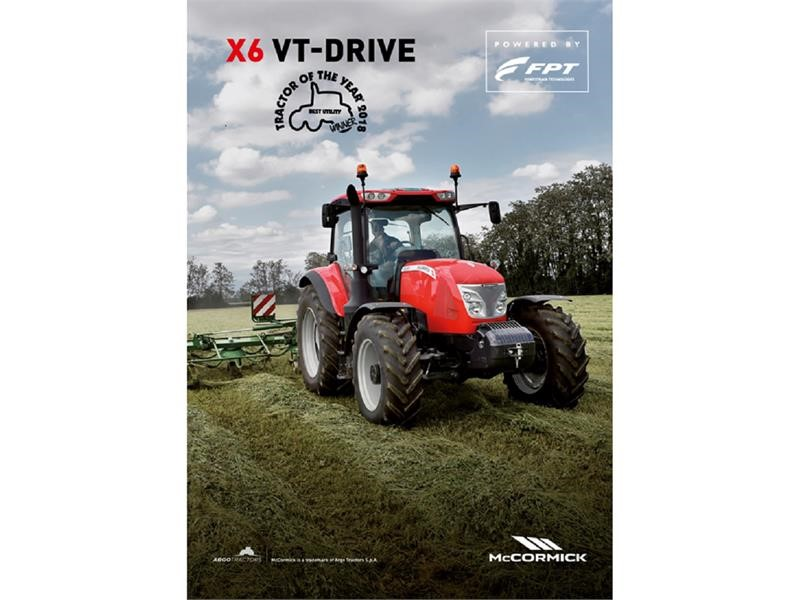 "FPT Industrial Equips the McCormick X6.440 VT-Drive Awarded ""Best Utility"" at Tractor of the Year 2018 Awards"
