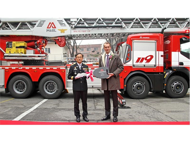 World's highest turntable ladder delivered to Asia