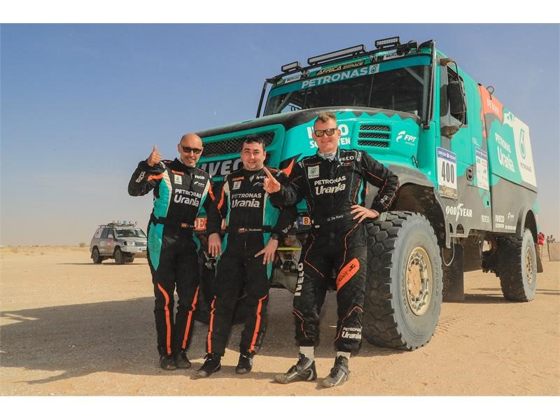 FPT Industrail Equips the Team PETRONAS De Rooy IVECO for the First Place at Africa Eco Race 2018