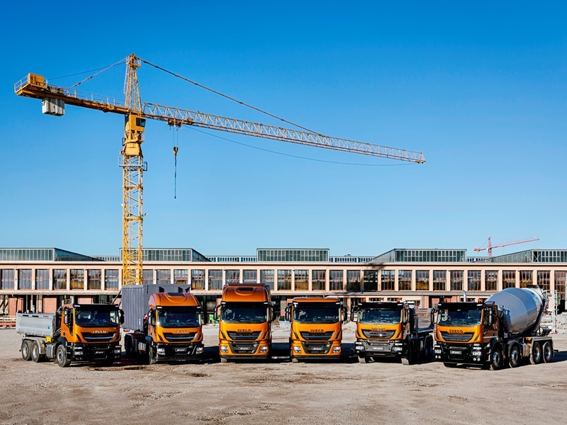 IVECO presents the new Stralis X-WAY and its sustainable vehicle ranges for the construction industry at Paris Intermat 2018 answering President Ma...