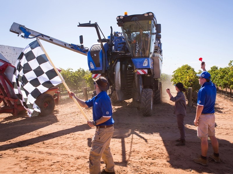 New Holland Sets New Benchmark in Grape Harvesting Performance