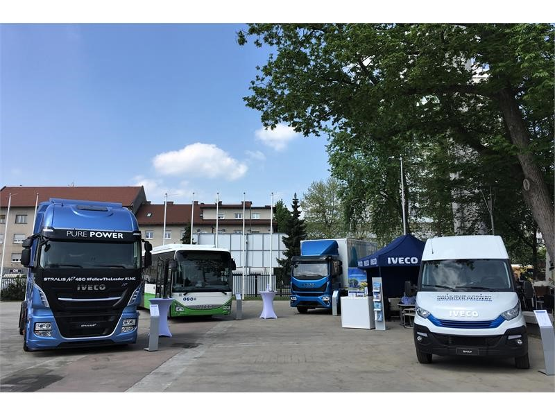 IVECO showcases its complete natural gas powered range at TEN-T Days 2018, the sustainable mobility conference promoted by the European Commission