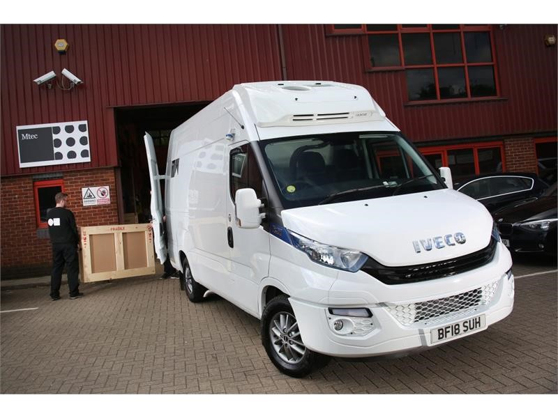 Art logistics provider says IVECO's Daily Blue Power is a masterpiece