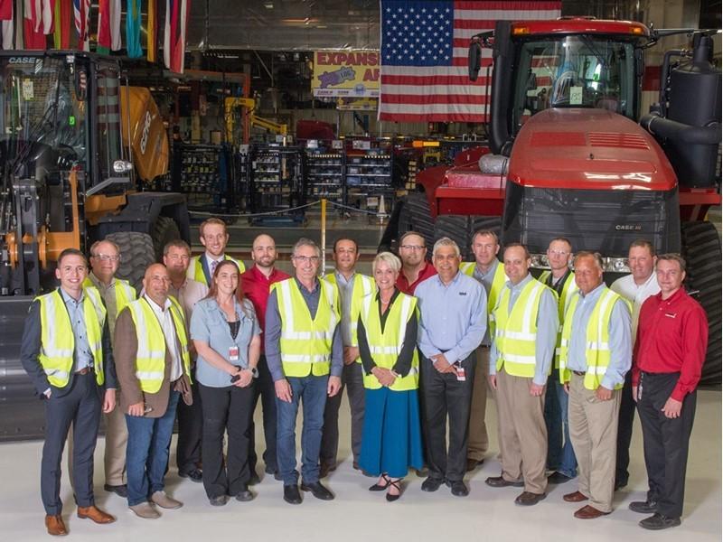 North Dakota Governor Doug Burgum and Labor Commissioner Michelle Kommer Visit CNH Industrial Manufacturing Facility in Fargo