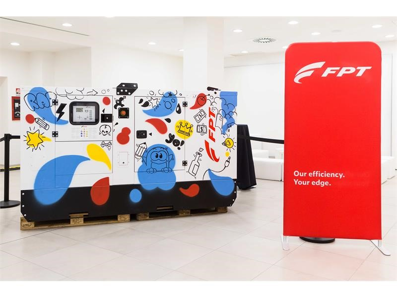 FPT Industrial Launches a New Partnership with Universal Music with a Genset Customized by a Street Artist