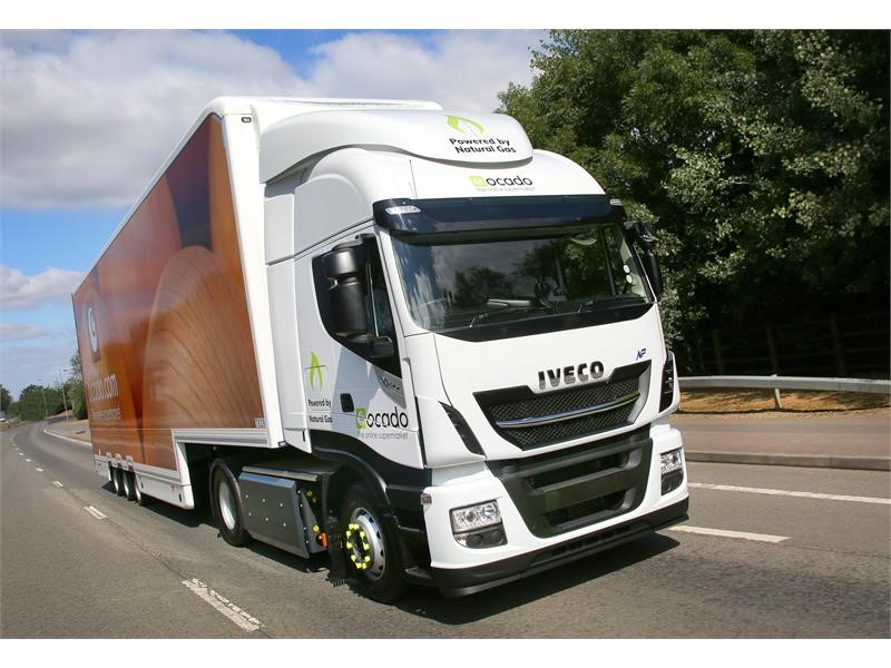 Online supermarket Ocado takes on 29 IVECO Stralis NP CNG trucks in UK's largest ever single order