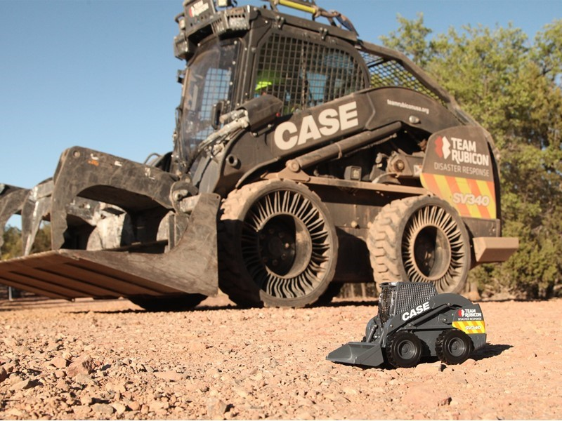"""CASE Debuts Die Cast Model of the CASE/Team Rubicon SV340 Skid Steer Loader """"The Beast""""; Portion of Proceeds from Sales will Benefit Team Rubicon"""