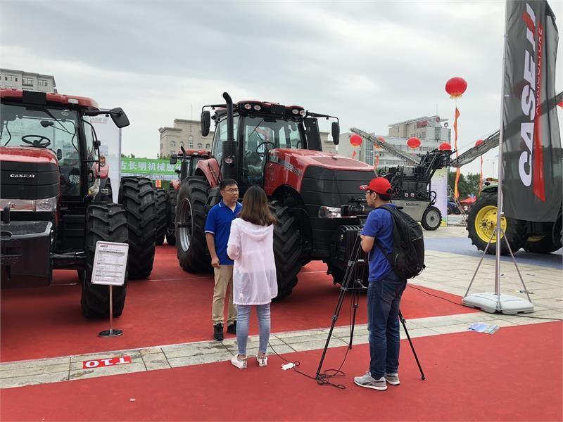 凯斯新款Magnum3404大马力拖拉机亮相2018年内蒙古国际畜牧业机械博览会