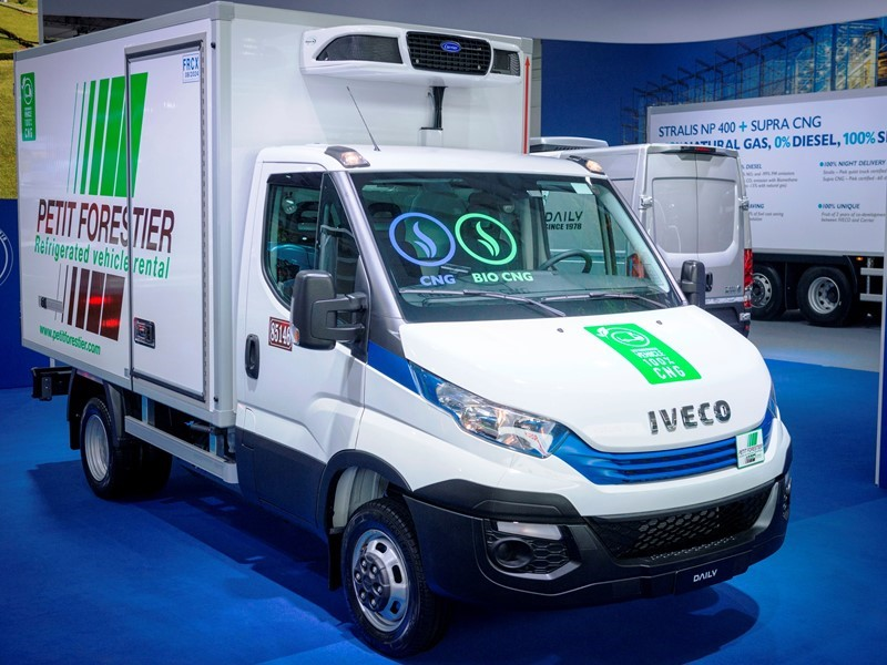 IVECO and Petit Forestier present Daily Blue Power NP Hi-Matic with a refrigerated box entirely powered by the 3.0 litre CNG engine