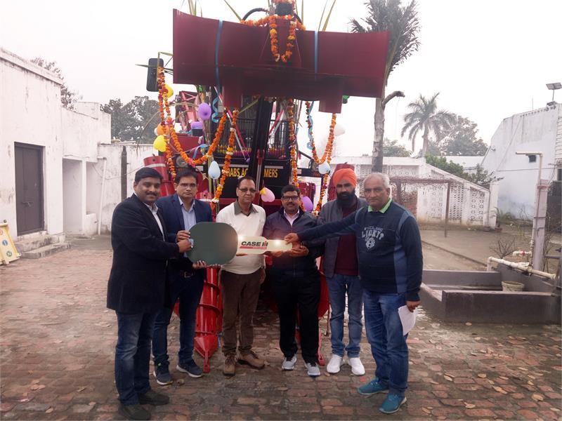 First Case IH Sugarcane Harvester delivered in Uttar Pradesh