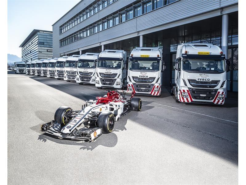 依维柯成为阿尔法·罗密欧竞速F1车队的官方运输合作伙伴