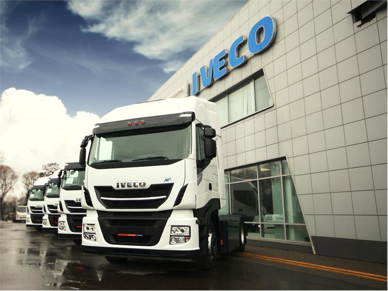 В России отгружена первая партия новых тягачей IVECO Stralis NP 460, работающих на газовом топливе
