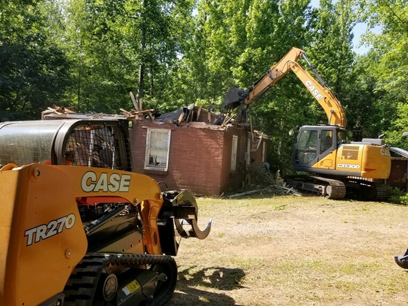CASE and Tidewater Equipment Support Team Rubicon Training; Demolish Structures at Girl Scouts Camp Martha Johnson