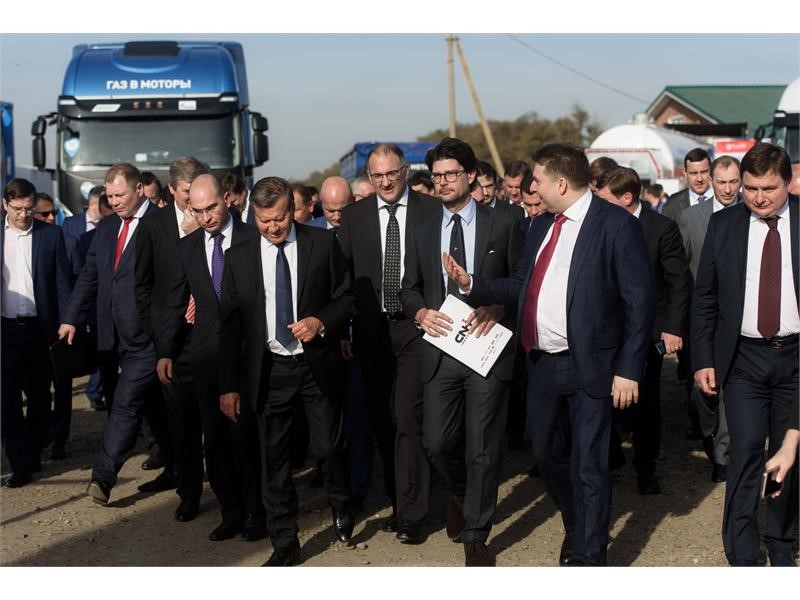 Газомоторные решения компании CNH Industrial были представлены в рамках открытия АГНКС ПАО «Газпром» в Краснодарском крае