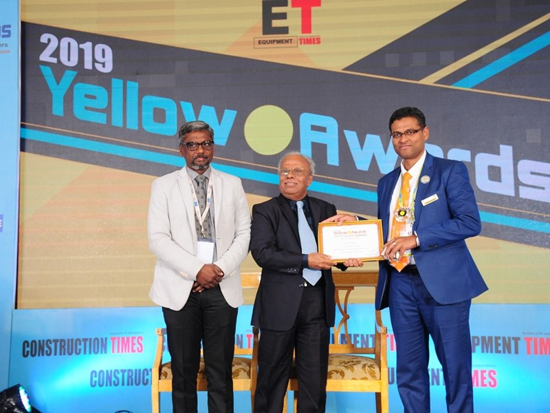 CASE India wins 'Best Design– Safety Award of the Year' at Yellow Dot Awards