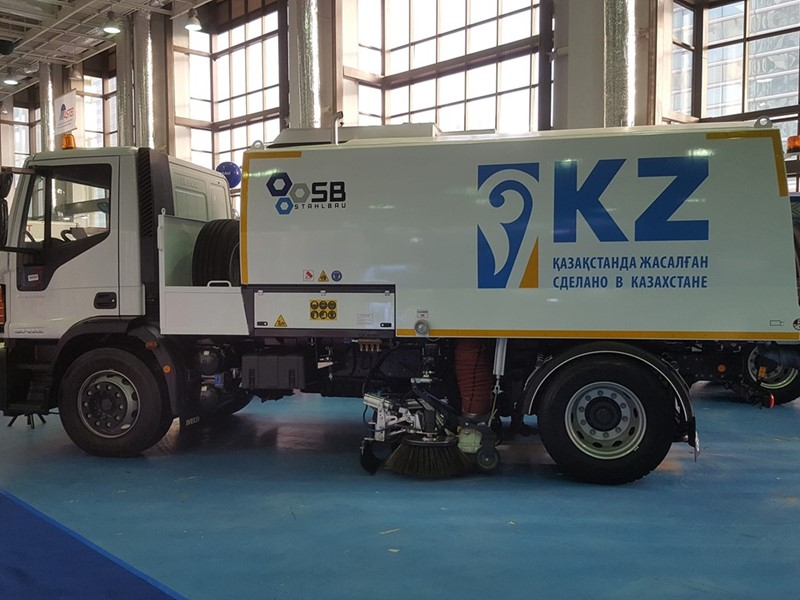 IVECO showcases Eurocargo trucks at the Kazavtodor-Kaztraffic-2019 international exhibition in Kazakhstan