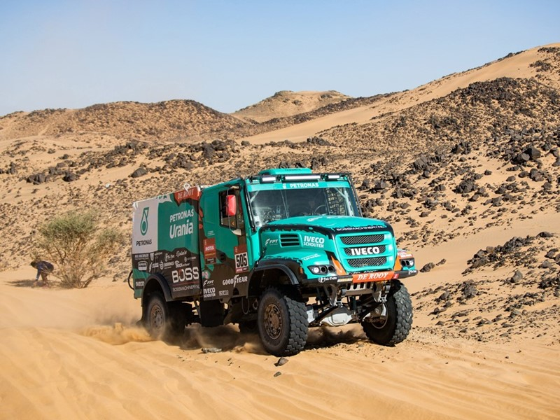 Objective complete for PETRONAS Team De Rooy IVECO in Dakar Rally's debut in the Middle East