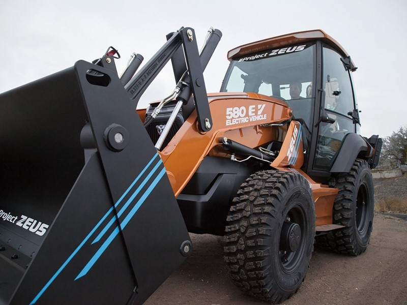 "CASE Unveils ""Project Zeus"" — the all-new 580 EV — the Industry's First Fully Electric Backhoe Loader"