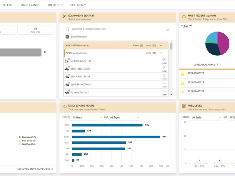 CASE Enhances SiteWatch Telematics Platform with New Dashboard and Simple Navigation