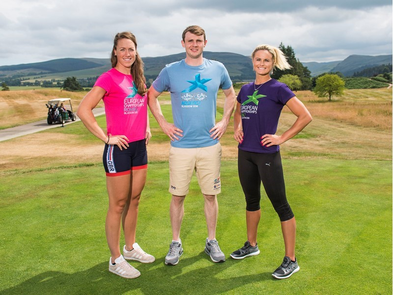 Glasgow 2018 athlete ambassadors undertake three-way sporting challenge to mark three weeks to go