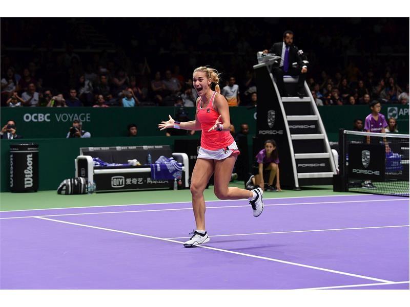 FILA Tennis Athlete Timea Babos Wins WTA Finals Doubles Title