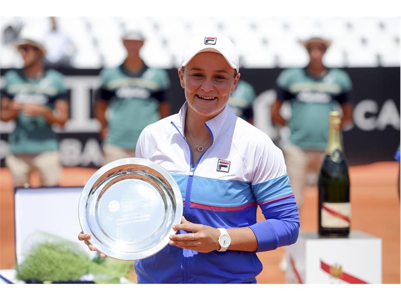 Barty Stays Hot in Doubles, Secures Title in Rome