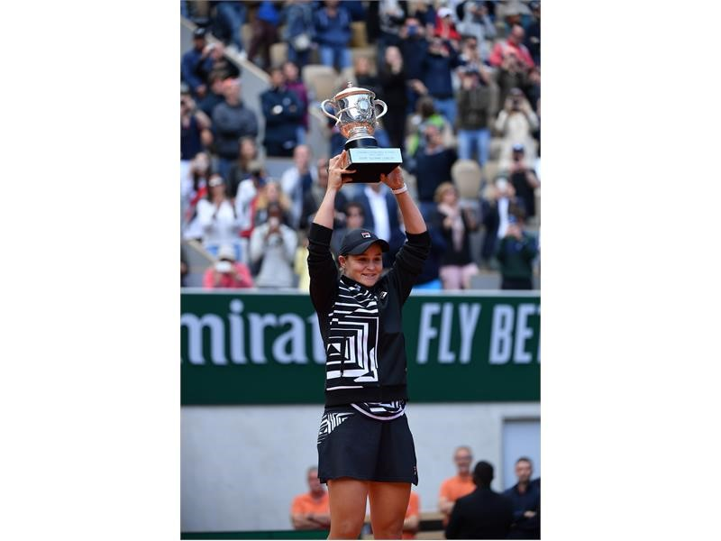 FILA's Ashleigh Barty Soars to World No. 2, Captures Maiden Grand Slam Singles Title in Paris