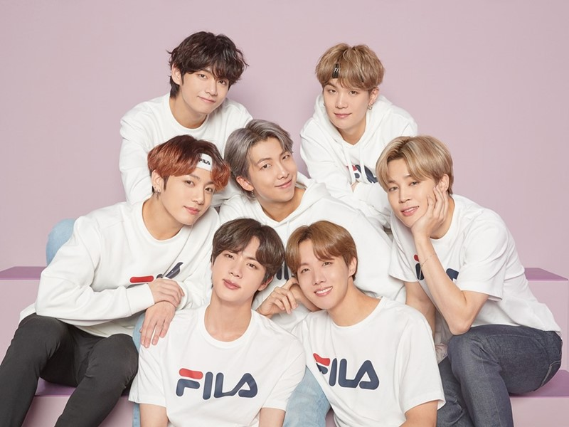 FILA Reveals First Photoshoot Image with BTS