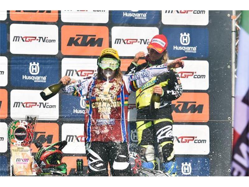 5th WMX World title for Kiara Fontanesi on Dunlop tyres