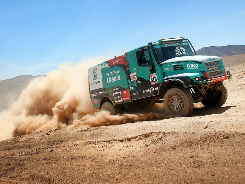 Dakar Rally podium finish for Team De Rooy with all four trucks in the top ten on Goodyear truck tyr